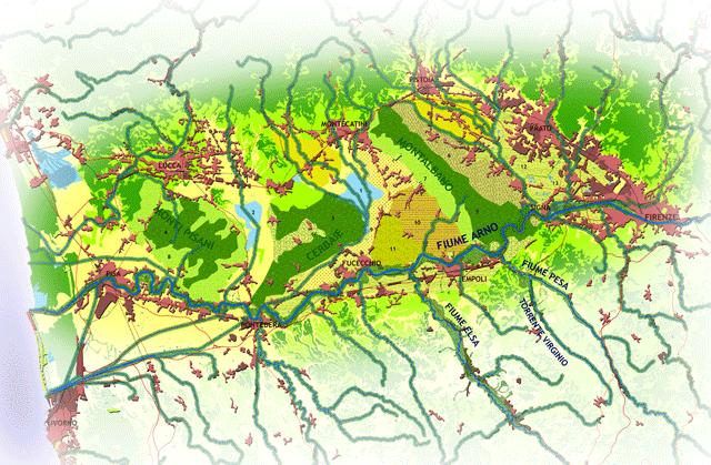 Il Green Core della città della Toscana centrale.